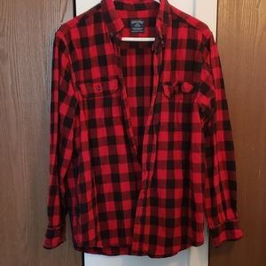 Men's Faded Glory Red Flannel Sz L